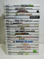 Nintendo Wii Game Lot of 19: Call of Duty, Tony Hawk, Madden, Sports, Fit (QW)