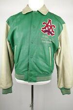 Vintage Avirex Sports Varsity Leather Jacket Men Size Small