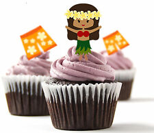 Decoraciones-Fresas ✿ ✿ 24 Taza De Papel De Arroz Comestible Cake Topper