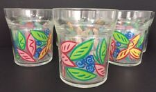 8 Trudeau Tumblers Tropical Floral Shatter Proof Plastic Poolside Beach  Patio