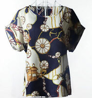 Fashion Summer Women Lady Casual Short Sleeve Loose  Chiffon T-shirt Tops Blouse