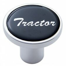 knob tractor screw on black glossy sticker for Kenworth Peterbilt Freightliner