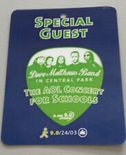 2003 Dave Matthews Band Backstage Pass Special Guest Plastic