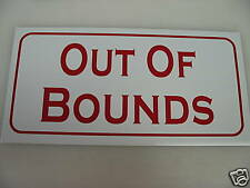 Vintage Out Of Bounds Metal Golf Sign New 4 Country Club Course Range Flag
