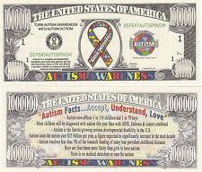 Autism Awareness Novelty Money Bill # 332