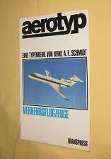 aerotyp - Typenreihe Verkehrsflugzeuge - DDR transpress Sachbuch 1968
