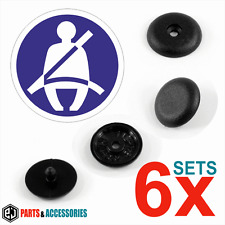 6x Seat Belt Stopper Buckle Buttons Holders Studs Retainer Pin Clips Universal