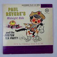 Paul Revere's Midnight Ride Boston Tea Party 45 rpm 1964 Listen & Learn Records