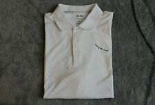 EUC Adidas Climacool Short Sleeve Golf Polo Quick Dry White XL Eagle Embroidery