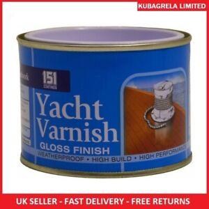 YACHT CLEAR GLOSS WOOD VARNISH FINISH - Paint 180ml Coatings Interior Exterior