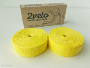 2Velo TOP COTTON Vintage HANDLEBAR TAPE lemon yellow