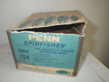 Vintage Penn Fishing reel box Only.Spinfisher 704