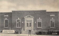 Malvern Arkansas Post Office Front View of Building Antique Postcard V14041
