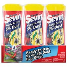 Sevin - Kills over 65 Insects Ready-To-Use 5% Dust 3 Pack 1 lbs