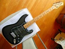 Hondo II Professional strat MIJ Tokai in black w maple neck, SSS EXCELLENT RARE