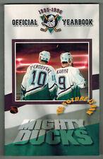 1995/96 Anaheim Mighty Ducks Media Guide Oleg Tverdovsky and Paul Kariya Cover