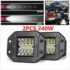 "2pcs 4.8"" 240W CREE LED Work Light Pods Car Truck Flush Mount Combo Driving Lamp"