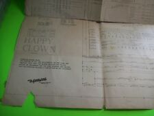 Gottlieb Happy Clown Pinball Machine Original Schematic Wiring Repair Diagram