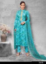 Cotton Printed Embroidered Salwar Kameez Suit Chiffon Printed Dupatta- Rivaa