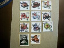 USA Used, 2005 Issue, 37 Cent Jim Henson and The Muppets, (set of 11)