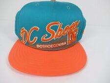 New Era DC Shoes CO USA Baseball Cap Hat 9Fifty Green Orange Snap Back