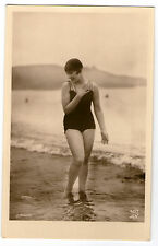 CPA 407-1 BAIGNEUSE GARCONNE ART DECO MISS PIN-UP NUE FLAPPERS BATHING BEAUTY