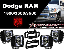 Rigid Radiance Pod White & Fog Light Kit For 10-15 Ram 2500/3500 09-12 Ram 1500