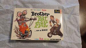 1964 Ed Roth Brother Rat Fink on a Bike extremely rare unbuilt sealed inside