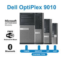 Dell Desktop Computer PC 9010🚩Intel Quad Core i5 16GB RAM SSD-HDD🚩Windows WiFi