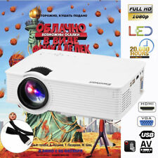 Excelvan EHD09 Projector HomeTheater 5000LM HD 1080P 3D HDMI/USB/VGA/SD/AV/3.5mm