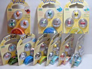 Pokemon Petite Pals Mini Figure 3-Pack Choice Of Character