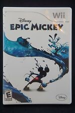 Disney Epic Mickey (Wii, 2010). COMPLETE. TESTED