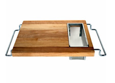 Sink Cutting Board Big Cutting Wooden Over Kitchen Wood Food Prep Best Large