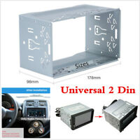 1Pcs Universal Car Van Stereo Radio Double 2 Din Radio Panel Mounting Cage Frame