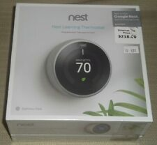GOOGLE NEST T3007ES 3RD GENERATION SELF LEARNING STAINLESS STEEL THERMOSTAT
