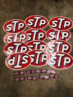 Large Lot Of 20 Vintage STP Motor Oil Stickers New Old Stock NOS