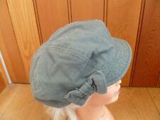 MONSOON ACCESSORIZE OLIVE GREEN BOW VINTAGE LOOK BAKER BOY PEAKED HAT CAP 57CM