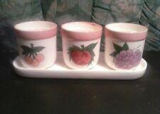 Ceramic Gardening Pots Succulent Planter Flower Pots 3 With Tray