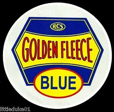 GOLDEN FLEECE 'BLUE' PROMO PETROL SERVICE STATION VINYL DECAL STICKER OIL Vespa