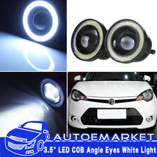 "3.5"" 20W Projector LED Fog Angel Eyes Lamp Car Front Light Halo Ring High Power"