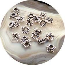 20 Bali Sterling Silver 7mm Star Bead Caps <#760>