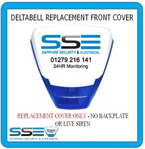 Deltabell Front Cover - Printed Real Alarm Installation Company Tel Number