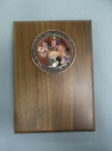 action WRESTLING plaque solid walnut 5 x 7 size trophy FREE LETTERING
