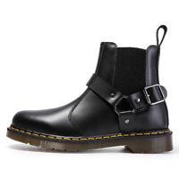 NEW Dr MARTENS buckle wincox chelsea flora Leather Ankle Boots Unisex