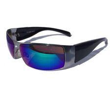 3 für 2 COOLE HERREN SONNENBRILLE SCHWARZ SPORT BIKER RACING Blau Sonnen Brille