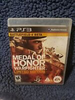 Medal of Honor Warfighter LIMITED EDITION Game PS3 PERFECT DISC NO SCRATCHES