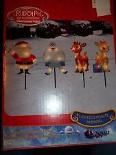 NEW CHRISTMAS PATHWAY MARKERS RUDOLPH CLARISE SANTA LIGHTED INDOOR OUTDOOR