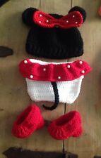 Disfraz Minnie Mouse Bebe Niña Cochet Recién Nacido  Conjunto Ganchillo