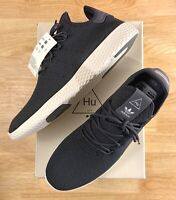 Adidas Pharrell Williams Tennis HU PW Carbon Chalk White Shoes CQ2162 Men's Size