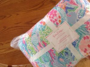 NEW Pottery Barn Kids Lilly Pulitzer Mermaid Cove TWIN Comforter Quilt